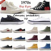 2021 Kadınlar 1970'lerin Atletik Ayakkabı Klasik 70 Kampüs Joker Tuval Chuck Shoes Ortak Adı Oyna Büyük Gözler Rahat Eğitim Erkekler Platformu Aşk Ayçiçeği Siyah Ak balıkçılık Sneaker