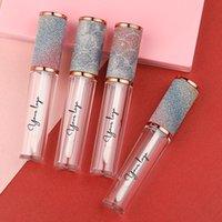 Vuoto Diamond Bling Lip Gloss Tube Contenitore Container Etichetta privata Confezione all'ingrosso con tappo a vite multicolore arcobaleno