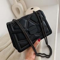 여성을위한 디자이너 체인 브랜드 디자이너 PU 가죽 크로스 바디 가방 2021 간단한 패션 숄더 가방 레이디 럭셔리 작은 핸드백