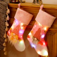 크리스마스 스타킹 선물 가방 크리스마스 트리 펜 던 트 장식 장식 양말 캔디 가방 홈 파티 장식 C2991