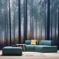 Wallpapers Custom 3D Mural Modern Creative Foggy Forest Path Landscape Wallpaper Living Room TV Sofa Bedroom Home Decor Self Adhesive