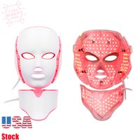 Beauty Skin Rejuvenation Face & Neck Mask LED Photon Therapy 7 Color Light Treatment Anti Aging Acne Spot Removal Wrinkles Whitening Facial Care