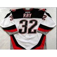 Goodjob Homens Juventude Mulheres Do Vintage # 32 Rob Ray Buffalo Sabers 1999 CCM Hockey Jersey Tamanho S-5XL ou Personalizado Qualquer nome ou número