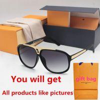 1pcs Moda óculos de sol redondos óculos Sun Glasses Designer Marca Black Metal Dark Frame 50mm lentes de vidro para os casos das mulheres dos homens Melhor Brown