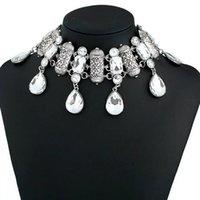Colares de pingente Dubai estilo vintage colar de jóias charme mulheres dança festa cair forma cristal para africano