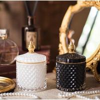 Barattolo di stoccaggio di gioielli in vetro Elegante zucchero trasparente Transport Can Crystal Jar Collana Collana Anello Contenitore per uso domestico Contenitore in vetro
