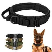 الكلب التكتيكي طوق النايلون كلب طوق القابل للتعديل الياقات التدريب السريع مقبض التحكم السريع للكلاب الكبيرة المتوسطة