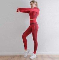 Autunm winter Fashion Designer Womens Cotton Yoga Suit Gymshark Sportwear Tracksuit Fitness Sports two Piece set 2PCS Leggings outfits coat