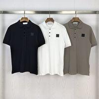 Hommes Polos T-shirts Top Qualité Courbe à manches courtes Broderie de coton de luxe T-shirt Nouveau Designer Polo Chemise High Street Tee-shirt