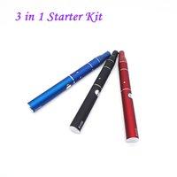 Erig 3in1 Vaporizer Atomizer eGo Evod Dry herb Wax E cig Starter Kit 3 in 1 Oil Vape Pen Zipper Case ecigs