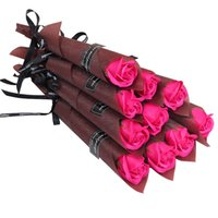 単一の茎の人工的なローズカーネーションの香りの入り風呂の明るい石鹸バラの保存花ブーケ結婚式のバレンタイン母の日パーティーギフト243 S2
