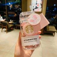 Edizione limitata 290ml Starbucks Genuine tazze Valentine's Day Giorno Cherry Blossom Pink Carino Coppa di paglia rotante con tela BA