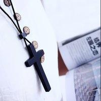 Chuxinyi Árvore Família de madeira Cruz Cruz de Artesanato Artesanato Pingente De Lazer Moda Christian Acessórios Presente 1P5F