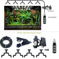 Equipamentos de rega Répteis Fogger Névoa Sprinkler Tank Forest 360 Ajustável Aquariamaquático PET Sistema de refrigeração com diafragma de 12V 60W