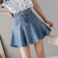 Frauen Sommer Denim Shorts Mini Röcke Koreaner adrette Stil Kurze Rock Top Qualität Jeans Rock Faldas Largas Mujer Modis Jupe