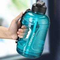 Uzspace 2300ml demi gallon bouteilles d'eau motivation plastique boireware avec échelle simple bouilloire moderne BPA gratuit pour la salle de sport, la course à pied, la randonnée pédestre,