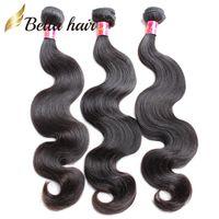 Bellahair Brazilian Hair Extensions Unprocessed Human Virgin Hair Weft Indian Malaysian Peruvian 3pcs Double Weft Body Wave Hair Bundles