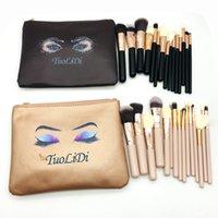 Pennelli per il trucco Piccolo pudding Set 15pcs rosa Cosmetici Brush Brush Kit in fibra di lana Eye Face Tools Professional Beauty Tools