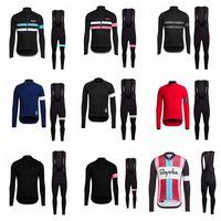 Rapha Team Pro cycling manches longues Jersey Bib Pants Sets Mens VTT Vêtements à manches longues Vélo à manches longues Vêtements de vélo 102640