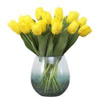 الزهور الاصطناعية مصغرة tulip الحرير محاكاة زهرة 8 ألوان الزفاف الديكور المنزل غارين الديكور شحن مجاني