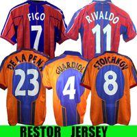 1997 1998 Stoititchkov Retro Jersey 97 98 Figo Ronaldinho Ronaldo Home Koeman Classic Rivaldo Henry Laudrup Guardiola Xavi Pique