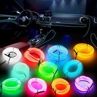 자동차 인테리어 분위기 조명 아우디 A3 Q5 EL 와이어 LED 장식 자동차 조명 로프 튜브 LED 스트립 자동 액세서리