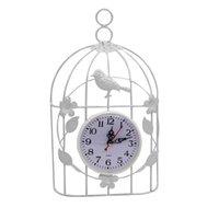 Wall Clocks 1pc Iron Creative Art Birdcage Clock Retro Home Hanging Birdcag Indoor Garden Decor Waterproof Outdoor