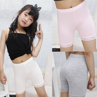 Çocuk Kız Güvenlik Kısa Pantolon Elastik Bebek Sıkı Pantolon Bebek Kız Yaz Sonbahar Saf Renk Pantolon Dantel Tayt