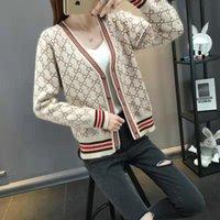 Роскошная одежда Женская свитер для женщин дизайнерские свитера повседневная вязать контрастность цвета с длинными рукавами осенью и зима мода классические женские джемпер