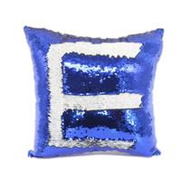 14 estilo sirena cubierta de almohada cubierta de almohada cubierta sublimación cojín tiro almohada funda de almohada decorativa que cambie de color LLA398