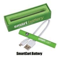 스마트 카트 배터리 키트 그린 스마트 카트 380mAh 예열 VV 가변 전압 하단 USB 충전기 vape 펜 510 두꺼운 오일 카트리지