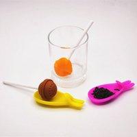 Bolsas de té Lollipop de silicona Maker de té Color de caramelo Color Round Tea Strainer Ball Forma creativa TEAWARE Herramientas DHL gratis