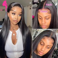 30 34 38 40inch Long Human Hair Lace Front Wig Natural Color 13x4 13x6 5x5 4x4 Yaki Straight Kinky Curly Water Loose Deep Body Wave Headband Wigs Bangs for Black Women