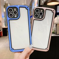 Luxury Transparent Phone Case For Apple iPhone 11 12 Pro Max mini SE 2020 X XR XS Max 7 8 Plus Camera Candy Color