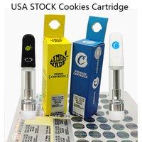 USA Stock Cookies Limited Edition vagnar 0.8ml vapenpatroner Atomizer Tjockolja Vaporizer Tomtpatron 510 Engångspenn Glas Tankvagn med låda Förpackning