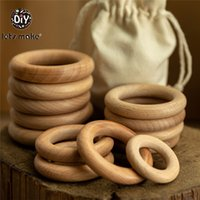 Lets Make 50pcs Wooden Rings DIY Customize 98 70 55 40mm Smo...