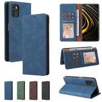 Ultrathin Wallet Case for Xiaomi 10T Lite Mi Poco M3 RedMi Note 10s Note 10 Pro Max 9Pro Max Note 8Pro Bracket Photo Frame Three Card Leather Case
