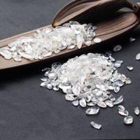 Natural Bianco Crystal Macadam Degaussing Pietra Pura Braccialetto per BUDDHA Pesce Plant Plant Landscaping Ornament Regalo di energia