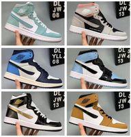 2021 1 OG Basquetebol Shoes Mens 1S Chicago Sneakers Mulheres Designer Sapatos Verde Branco Preto Trainers de Alta Qualidade Sapatos de Esporte de Luxo