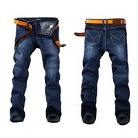 Мода весенние растягивающие джинсы плюс большой размер 29 -44 46 48 прямые джинсовые мужчины известные бренд EANS мужские дизайнерские джинсы