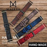 Bande de montre à la main Maikes 20mm 21mm 22mm 23mm de 24mm de 24mm montre en cuir pour Panerai Omega Rolex Hamilton Watch Strap 0311