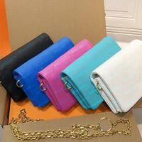 Bolsas de moda bolsas bolsas de couro de couro cinta de cadeia de corrente 20cm