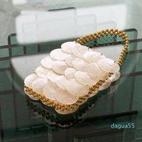 Clutch Bags 2021 Fairy Shell Bag Natural Fritillary Piece Sequin Hand Weaving Beaded Pearl Handbag