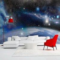 Fondos de pantalla personalizado PO Wallpaper 3D Hermosa fantasía universo azul cielo estrellado paisaje mural sala de estar sofá sofá arte decoración de pared pegatinas de pared