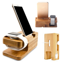 Universal Bamboo Mobile Phone Holder Charging Dock Stand Sta...