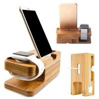 Portainsieme universale del telefono cellulare di bambù che carica il supporto del caricatore di base del basamento del basamento di bambù DHL del supporto di Bamboo DHL Trasporto libero