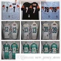 NCAA Vintage 75th Retro College Football 39 Larry Csonka Jersey genäht 13 Dan Marino 12 Bob Griese 7 Boomer Essias 78 Anthony Munoz Trikots Grün weiß