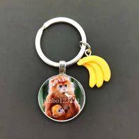 Keychain 2021 Ape-man Wars Planet Chimpanzee Monkey Art Po Animal Bag Charm Accessories Car Tas Gift{category}