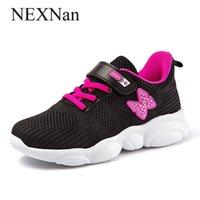 Nexnan Sport Kinder Turnschuhe für Kinder Freizeitschuhe Jungen Turnschuhe Mädchen Schuhe Atmungsaktives Mesh Laufende Schuhe Trainer Schule 210309