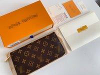 최고의 고품질 단일 지퍼 지갑 카드 소지자 프랑스 파리 격자 무늬 스타일 luxurys 망 지갑 여성 지갑 높은 엔드 고급 디자이너 지갑 포장 상자